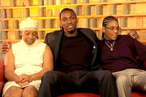 Faried with his two moms